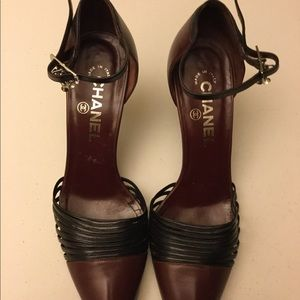 CHANEL slingback pumps size 9b